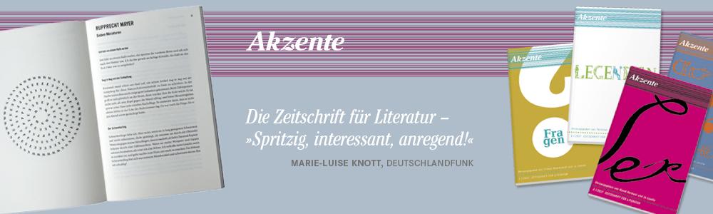 Für Buchhändler Akzente Hanser Verlage Hanser Literaturverlage
